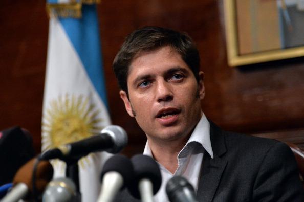 El ministro de economía argentino Axel Kicillof en conferencia de prensa en el Consulado argentino de Nueva York, 30 de julio de 2014. (STAN HONDA/AFP/Getty Images)
