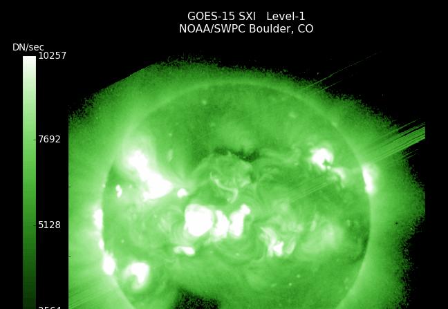 Imagen del Sol el 26 de marzo de 2015 desde el observatorio de rayos ultravioleta de GOES. ( GOES-NOAA)