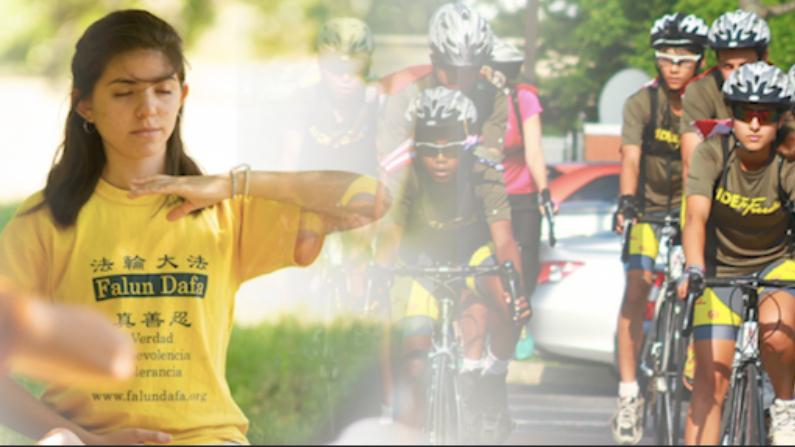 Sara Almaraz recorrió  miles de kilómetros en bicicleta junto con otros   jóvenes, por una noble causa (Cortesía Daniel Musa y Ride to Freedom)