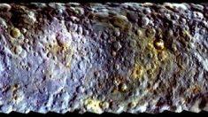 Ceres revela sus colores azul y amarillo a la nave Dawn