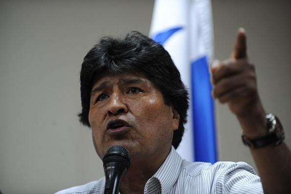 El presidente boliviano Evo Morales en un discurso durante la Cumbre de los Pueblos realizada en Panamá en abril de 2015. (JOHAN ORDONEZ/AFP/Getty Images)