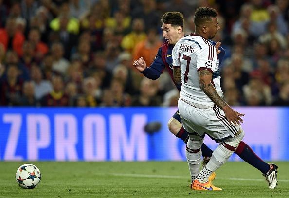 Lionel Messi frente a Boateng en el Camp Nou, 6 de mayo de 2015. (Vladimir Rys Photography/Getty Images)