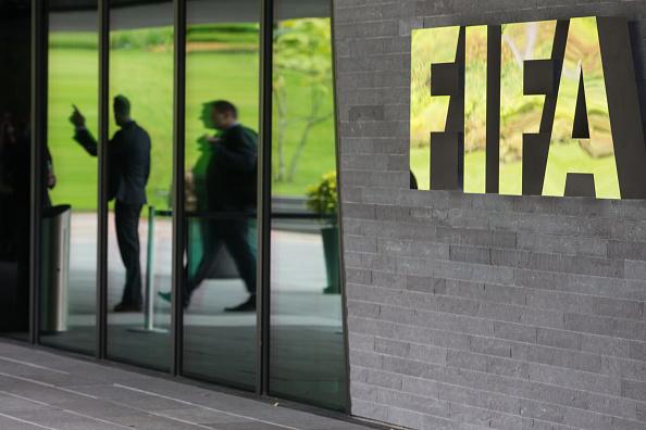 Entrada de la sede central de la FIFA en Zurich, Suiza. (Philipp Schmidli/Getty Images)