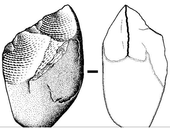 Herramienta paleolítica (José-Manuel Benito Álvarez- Wikimedia Commons)