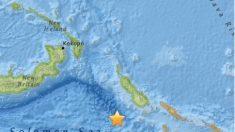 Terremoto de 7,2 grados sacude las costas de Papua Nueva Guinea