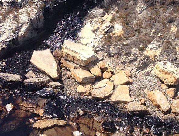 Derrame de petróleo en playas de California el 19 de mayo 2015- (USGS)