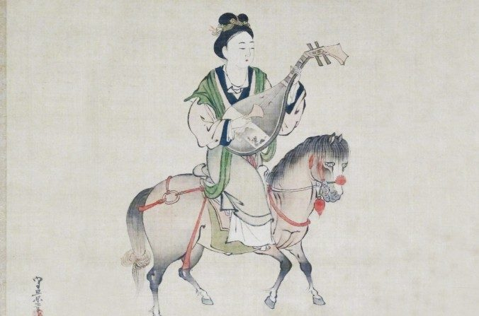 Representación japonesa del período Eso de Wang Zhaojun. (Wikimedia Commons)