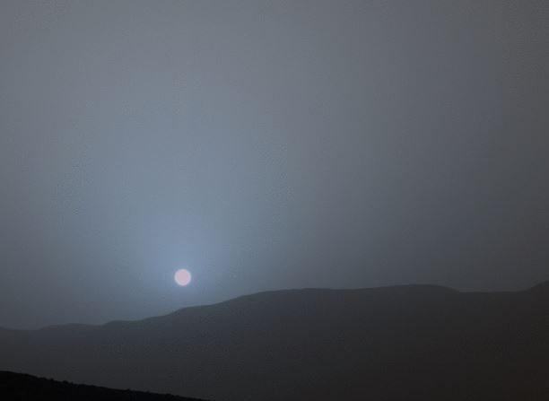 Puesta de Sol den Marte el 15 de abril de 2015. ( NASA)