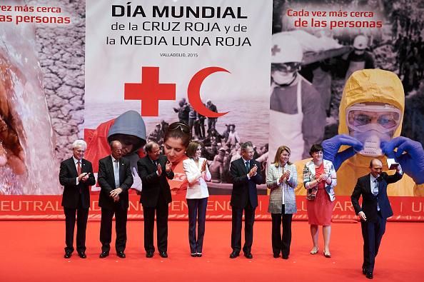 Reina Letizia de España asiste a la Conmemoración de la Cruz Roja Día Mundial en el auditorio Miguel Delibes el 8 de mayo de 2015, de Valladolid, España. Foto: Carlos R. Alvarez/Getty Images