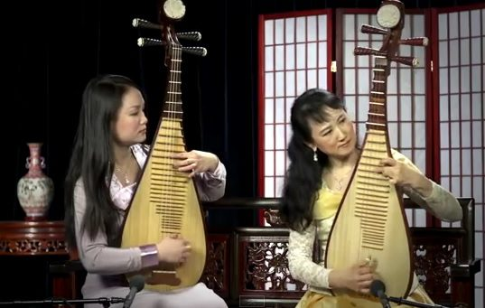 Gran dueto de Pipas chinas. (NTDTV)