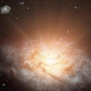 Una galaxia remota que brilla con la luz de más de 300 billones de soles, es la más luminosa hasta la fecha y pertenece a una nueva clase de objetos descubiertos por el telescopio WISE de la NASA (foto: www.diariohoy.net)