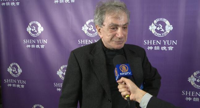 Sergio Renán en una entrevista concedida a NTD después de ver el espectáculo de Shen Yun en mayo de 2014. (NTD)