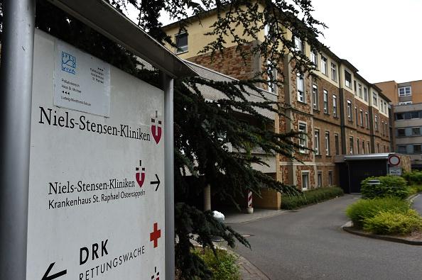 Hospital St. Raphael de Alemania donde murió el afectado por MERS, 16 de junio. (PATRIK STOLLARZ/AFP/Getty Images)