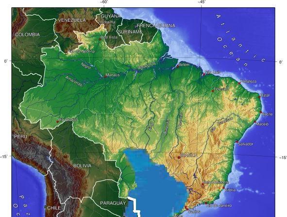 Ubicación de acuífero subterráneo Guarani . (Nathan Sodré Salvatierra /Wikimedia Commons)