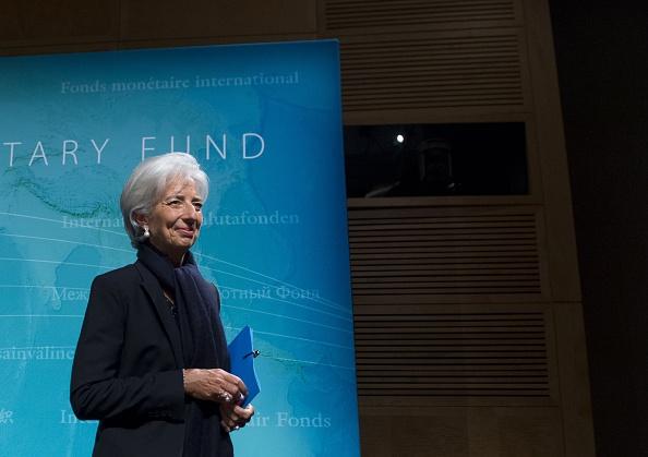 La directora gerente del FMI, Christine Lagarde durante una conferencia de prensa en la sede del FMI en Washington, DC, 4 de junio de 2015. (SAUL LOEB / AFP / Getty Images)