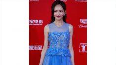 La actriz china Tiffany Tang usa un vestido falsificado de Elie Saab