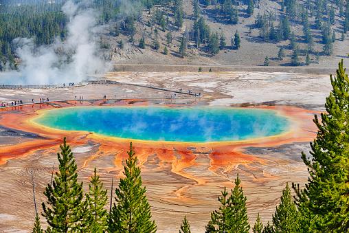 Parque Nacional de Yellowstone, Gran Fuente Prismática. Foto: Westend61/ Getty Images