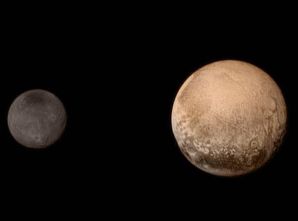 Plutón y Caronte en su imagen del 11 de julio de 2015. (NASA)