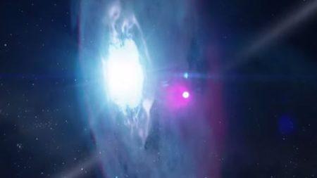 NASA anticipa choque de estrellas en 2018 con potentes rayos gamma y energía electromagnética