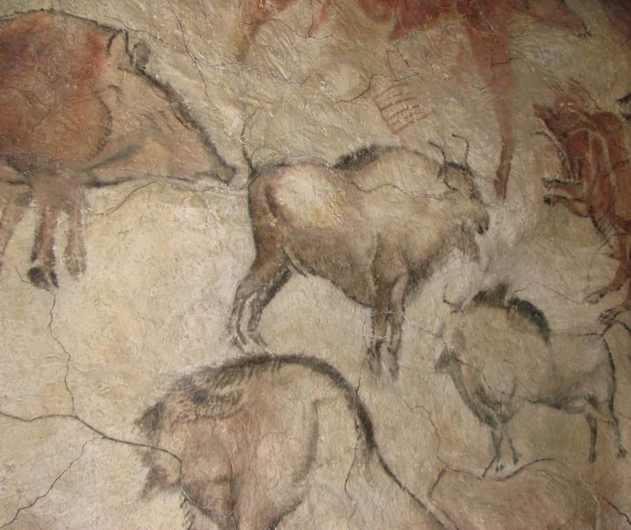 Pintura rupestre de las cuevas de Altamira, en el Museo de Moravia, República Checa.