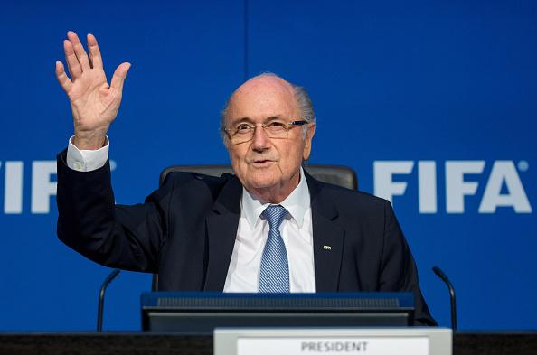 Presidente de la FIFA Joseph S. Blatter asiste a una conferencia de prensa en la Reunión Extraordinaria del Comité Ejecutivo de la FIFA .  Philipp Schmidli/Getty Images