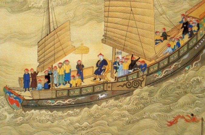 Emperador Kanji de viaje, a principios del siglo 18 durante la Dinastía Qing. (Wikimedia Commons)