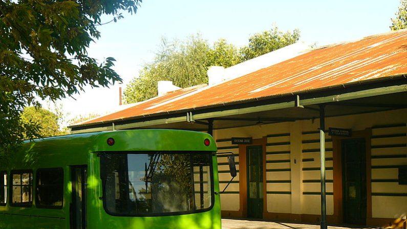 Primer prototipo del tecnotren testeado en la localidad de Bavio, provincia de Buenos Aires. (Foto: Wikimedia Commons)