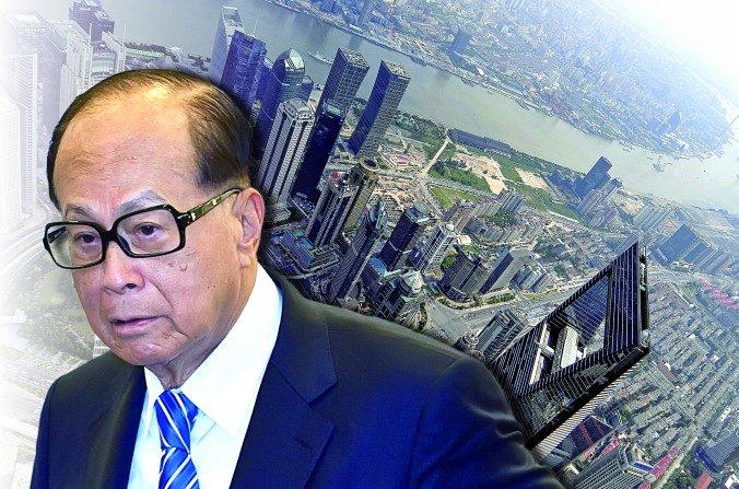 Li Ka-Shang magnate en el mundo de los negocios de Hong Kong e inclusive el hombre más rico de Asia, recientemente comenzó a vender sus activos en Shanghái. (La Gran Época. Foto compuesta)