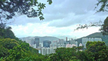 Escalando en Hong Kong