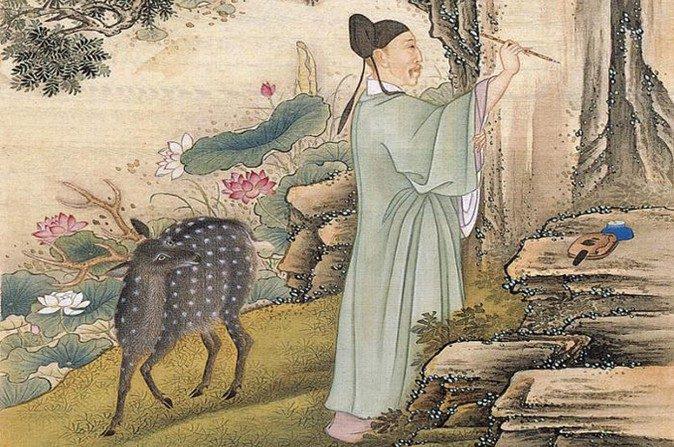Estar de pie como el árbol de pino implica no simplemente estar erguido, también que se posee una sólida base moral. Imagen de artista de la corte del periodo Yongzheng. (1723-1735). (Wikimedia Commons)