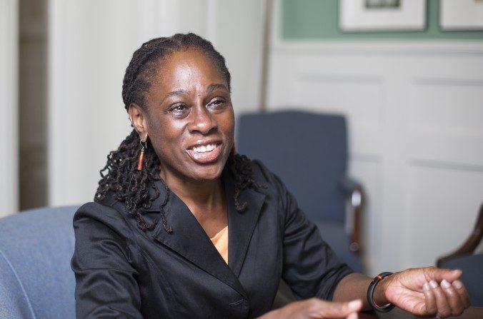 La Primera Dama de Nueva York Chirlane McCray en el Ayuntamiento de Manhattan el 11 de agosto de 2015. (Samira Bouaou / La Gran Época)