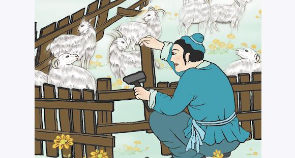 Una vez, un pastor encontró un agujero en el redil de las ovejas, pero se olvidó de repararlo. Unos días más tarde, varias ovejas estaban desaparecidas. Luego reparó el corral y nunca perdió ovejas de nuevo. (Sandy Jean / La Gran Época)