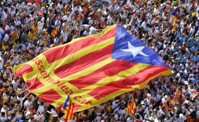 La Banca dejaría Cataluña si se produce la independencia.  (Diada 2015)