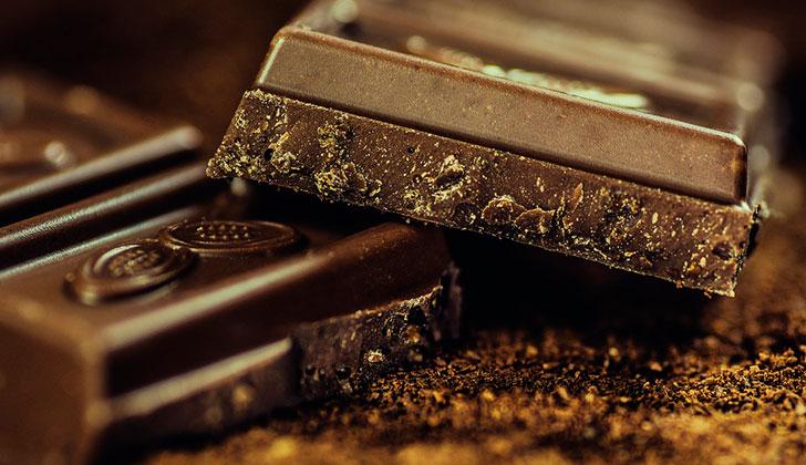 El chocolate negro es un alimento anti-estrés. Foto: Pixabay