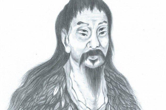 Cangjie, el creador de los caracteres chinos, suele ser representado con cuatro ojos para simbolizar su gran visión. (Ilustrado por Yeuan Fang/La Gran Época)