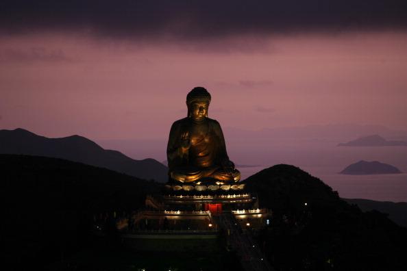 La gran estatua de Buda en la isla Lantau, en Hong Kong.