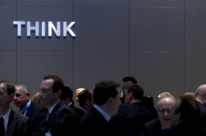 Stand de IBM en la Feria CeBIT IT  en Hanover, Alemania, marzo de 2011. (Johannes Eisele/AFP/Getty Images)
