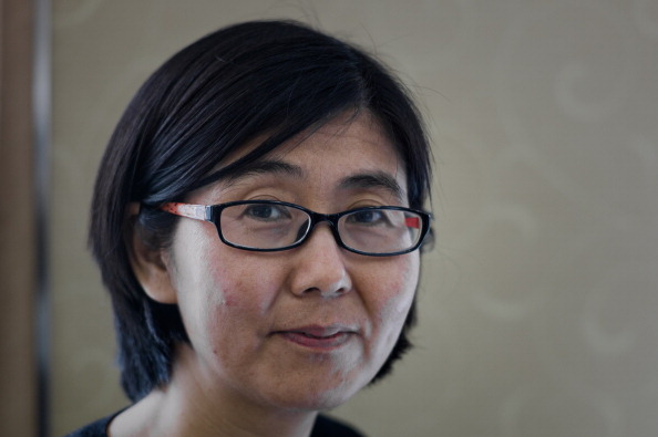 Abogado de derechos humanos china Wang Yu.  (PHILIPPE LOPEZ/AFP/Getty Images)