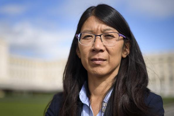 Intervención de la doctora Joanne Liu -presidente internacional de Médicos Sin Fronteras-, el 7 de octubre de2015, Palacio de las Naciones, Ginebra, Suiza. (FABRICE COFFRINI/AFP/Getty Images)