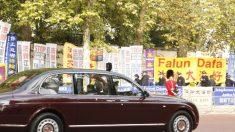 Xi Jinping es recibido en Londres con varias protestas