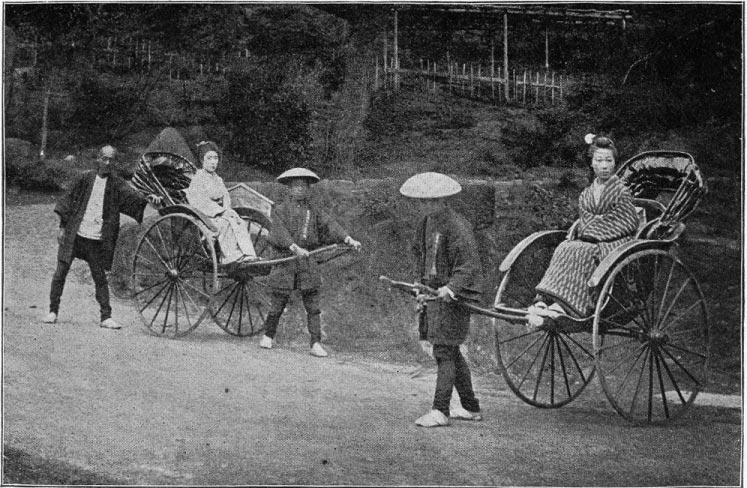 Rickshaw(litera) japonesa de finales del siglo XIX. DopefishJustin/Wikipedia/Dominio Público