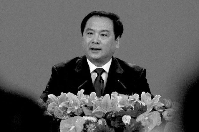 Li Dongsheng, ex jefe del grupo de trabajo de la policía secreta de la Oficina 610, en el Gran Palacio del Pueblo en Beijing, el 14 de octubre del 2007. (Frederic J. Brown / AFP / Getty Images)