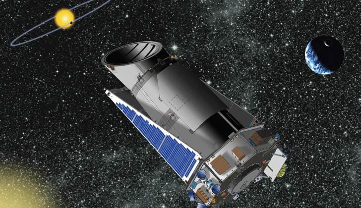 Sonda espacial del Telescopio Kepler. Foto: Wikimedia Commons.