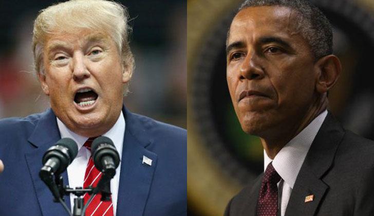 Donald Trump (Izq.) y Barack Obama (Der.). (La Red 21)