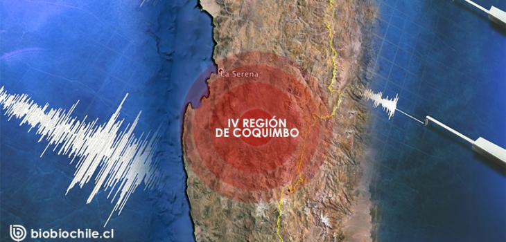 Sismo de magnitud 5,2 sacude Coquimbo en Chile.