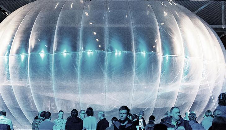 """Uno de los globos del """"Project Loon"""", de Google X. Foto: Wikimedia Commons."""