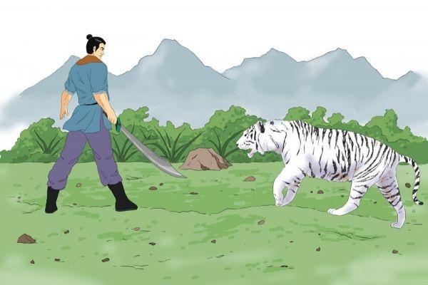 El tigre era muy delgado y mostraba acciones tan inusuales que Sun sospechó que necesitaba atención médica.  Fuente: The Epoch Times en español. (imagen ilustrativa/theepochtimes)