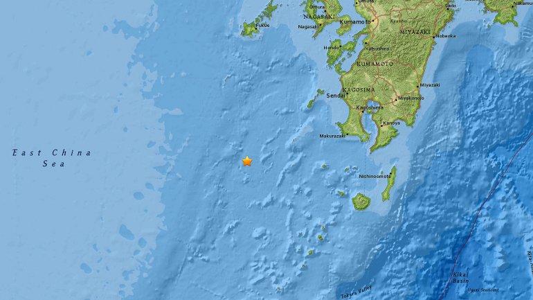Ubicación del terremoto del sábado 14 de noviembre por la mañana. (USGS)