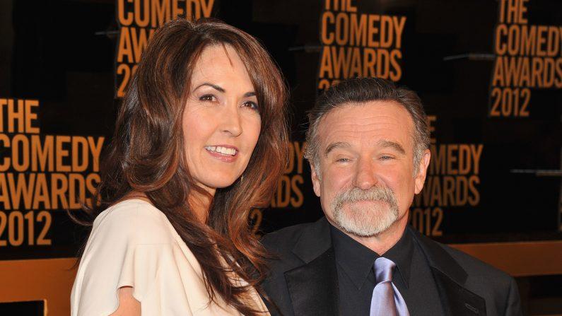 Susan Schneider y Robin Williams. (Theo Wargo/Getty Images)