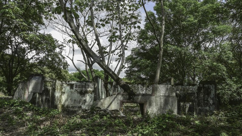 Las ruinas de una casa en la ciudad de Armero , en el departamento de Tolima , Colombia el 5 de noviembre de 2015. Armero fue destruida por un deslizamiento de tierra causado por la erupción del Nevado del Ruiz , el 13 de noviembre de 1985. AFP PHOTO / Luis Acosta ( Crédito de la foto debe decir LUIS ACOSTA / AFP / Getty Images )
